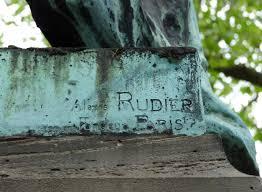 Exemple de signature Rudier sur bronze