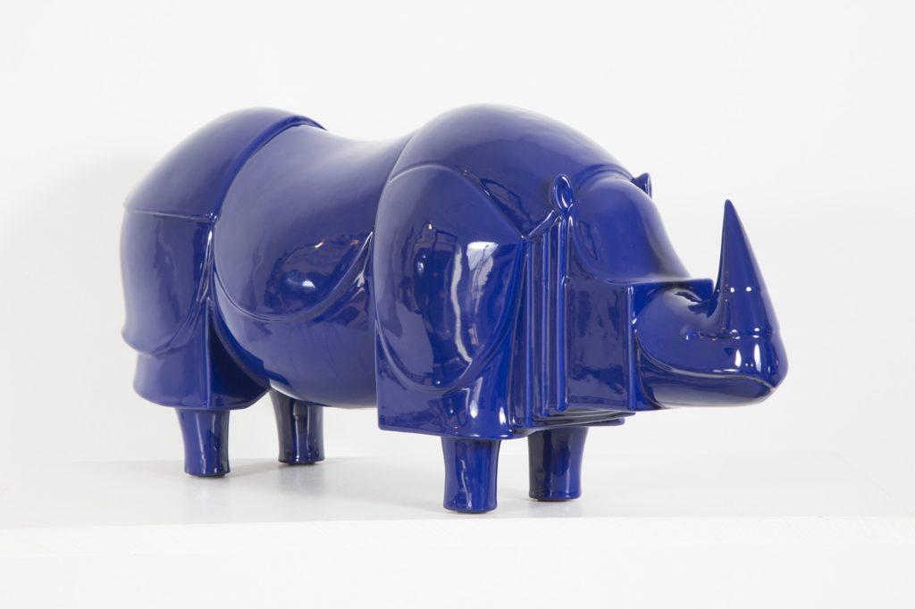 Rhinocéros Bleu, Céramique