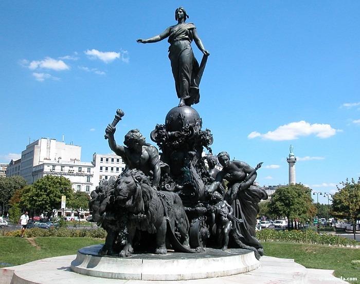 Statues du triomphe de la République par Dalou, place de la Nation