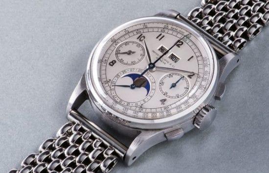 Montre bracelet Patek Philippe estimée à plus de 10 millions d'euros