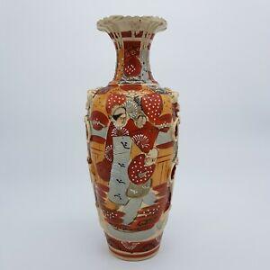 Grand vase Satsuma, décor Samouraï