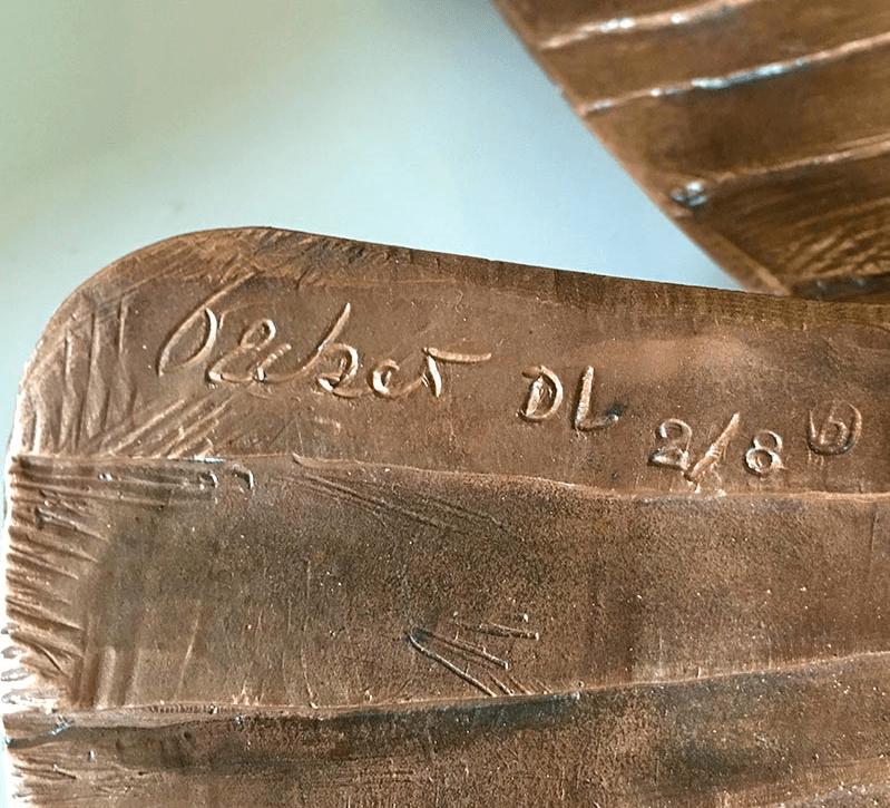 Exemple de tirage numéroté sur bronze