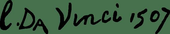Exemple de signature de Léonard de Vinci