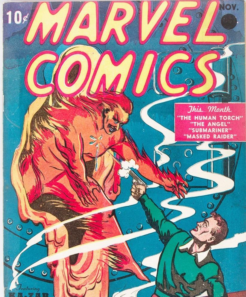 """Premier numéro de """"Marvel Comics"""" est sorti en 1939, adjugé à plus d'1 million d'euros"""