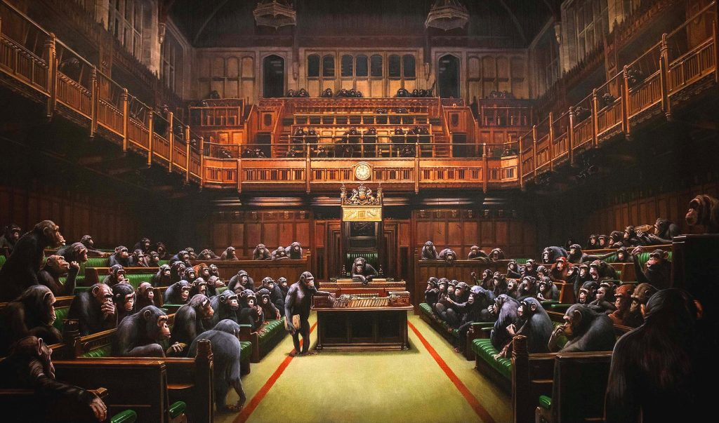 Devolved parliament Banksy