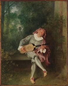 Watteau Mezzetin rococo