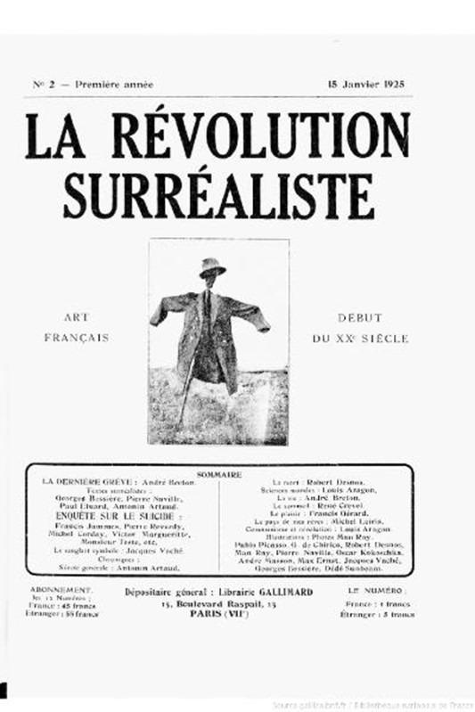 Affiche Revolution surrealiste