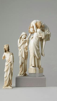 Groupe de la descente de croix ivoire