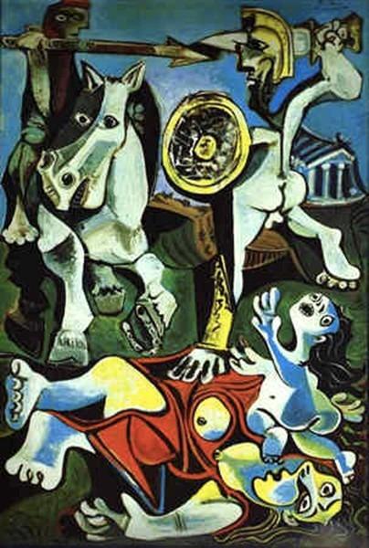 toile enlèvement sabines Picasso
