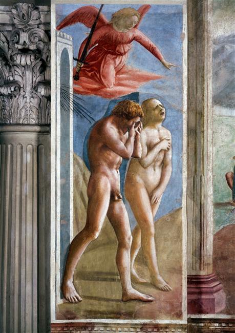 peinture adam eve paradis