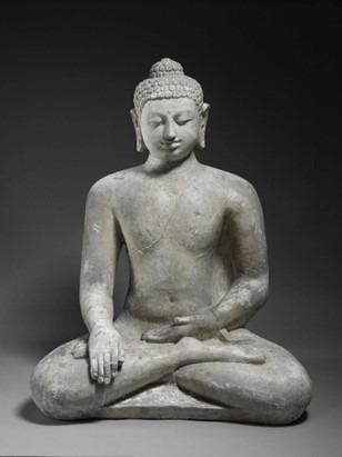 sculpture Bouddha assis