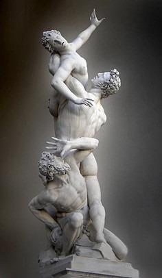 sculpture enlèvement Sabines