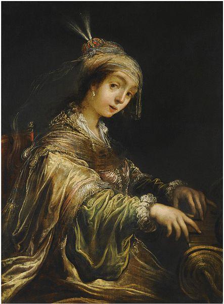 Sainte Cécile jouant de l'orgue