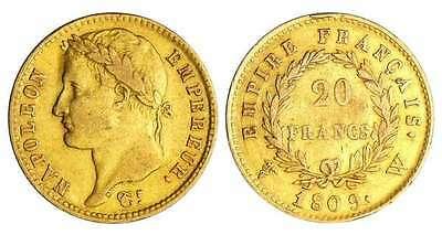 Expertise Napoléon 20 francs or