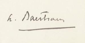 Signature Albert Baertsoen