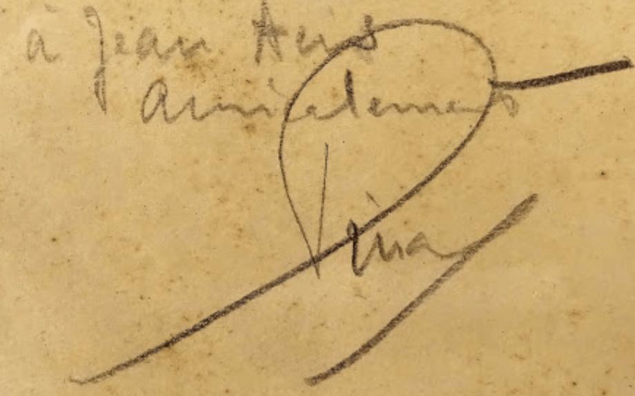 signature Fernand PINAL