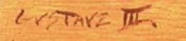 Signature Gustave BLACHE III