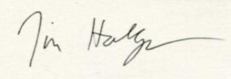 signature Jim HODGES