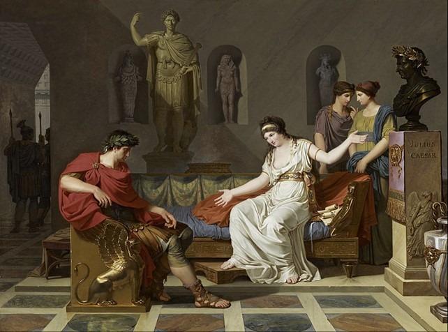 Peinture Cléopâtre et Octave