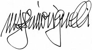 signature lella massimo vignelli