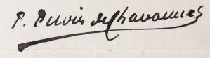 signature puvis de chavannes