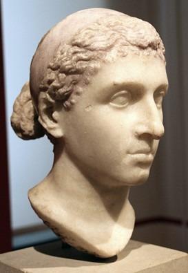 tête marbre Cléopâtre