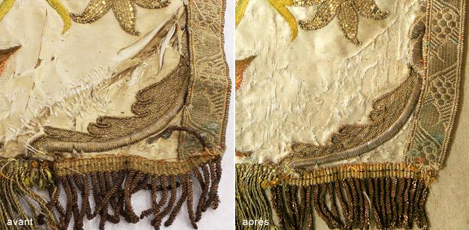 Restauration tissus et textiles anciens