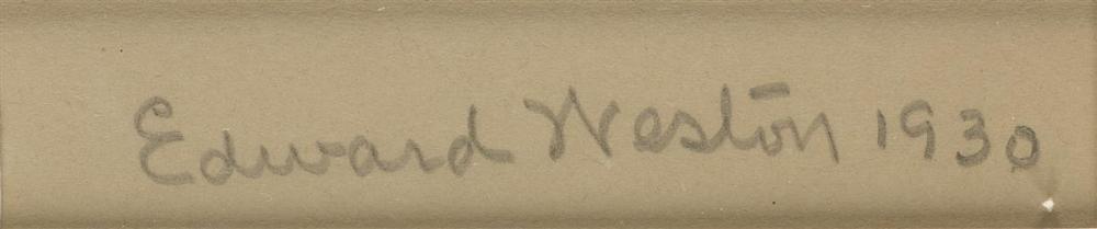 Signature Edward Weston