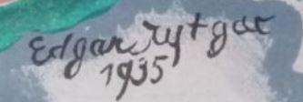 Signature Edgard Tytgat