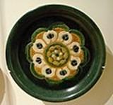 Plat céramique sancai