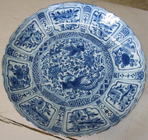 plat porcelaine kraak
