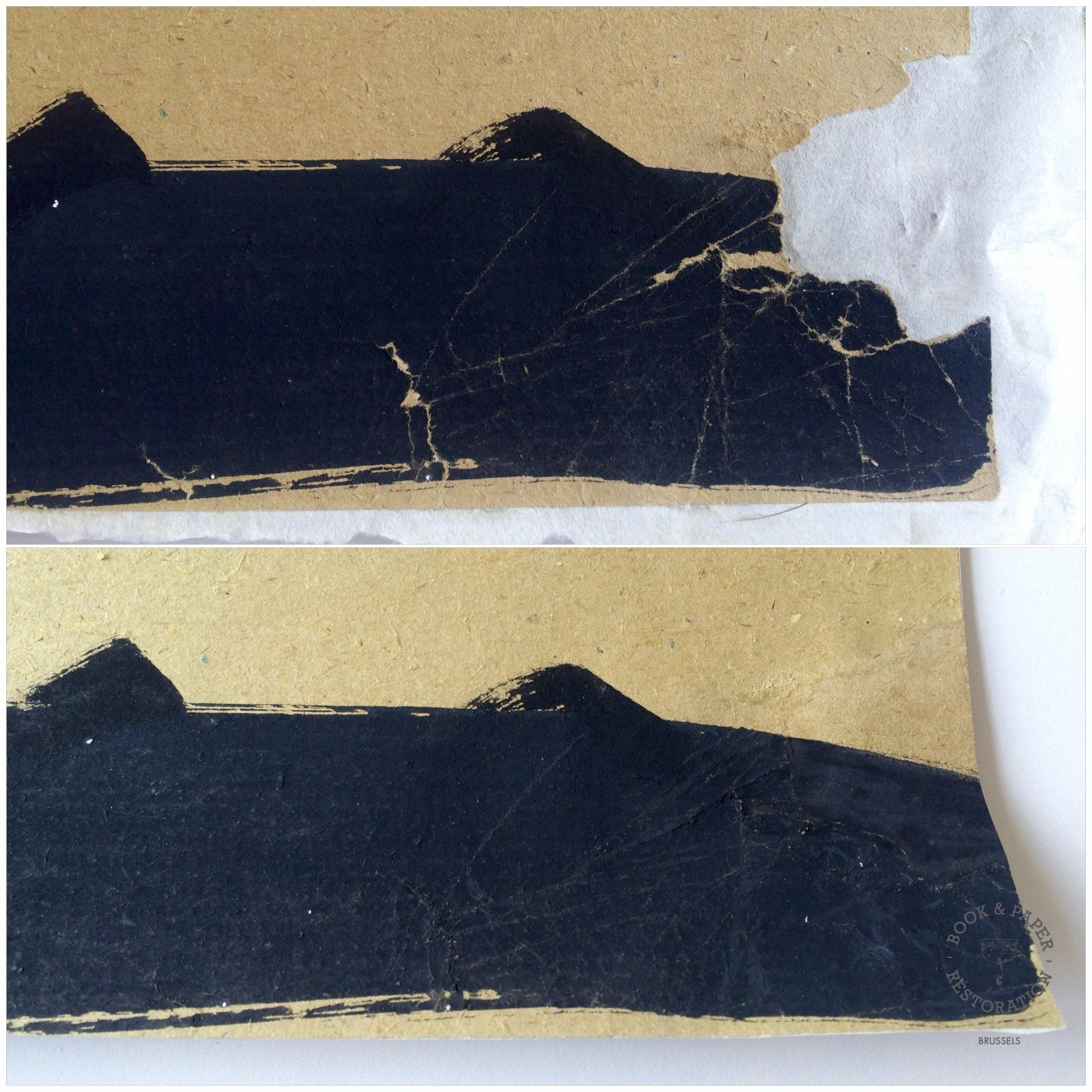 Restauration oeuvres sur papier