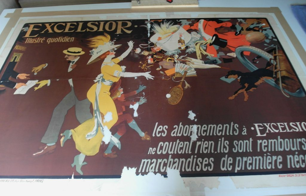 restauration expertise affiche lithographie