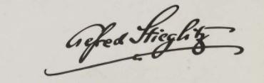 Signature Alfred Stieglitz