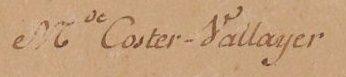 Signature Anne Vallayer-Coster