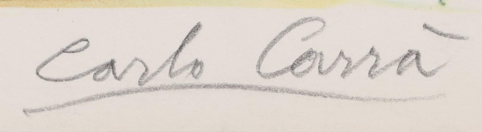 Signature Carlo Carra