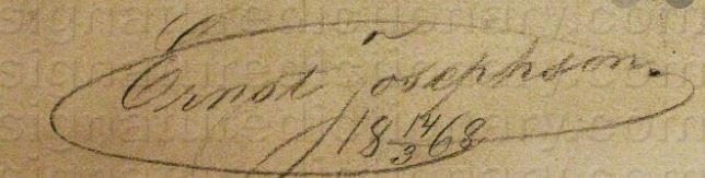 Signature Ernst Josephson