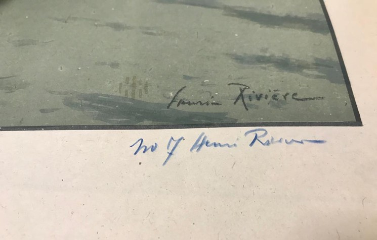 Signature Henri Rivière