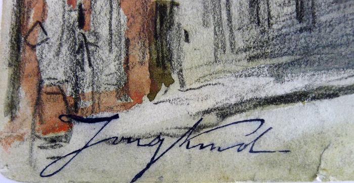 Signature Johan Barthold Jongkind
