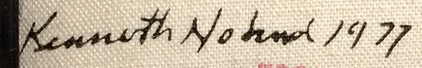 Signature Kenneth Noland