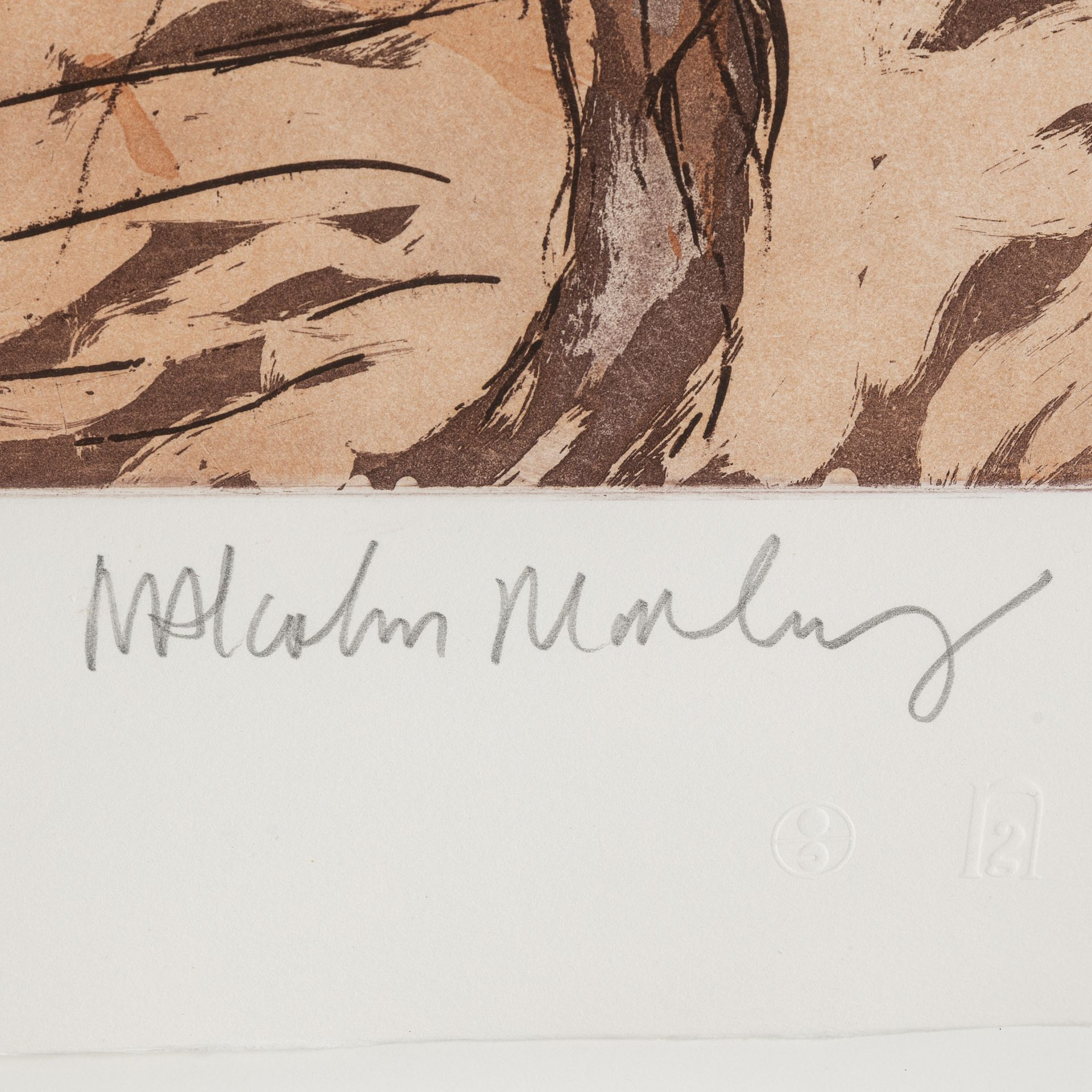 Signature Malcolm Morley