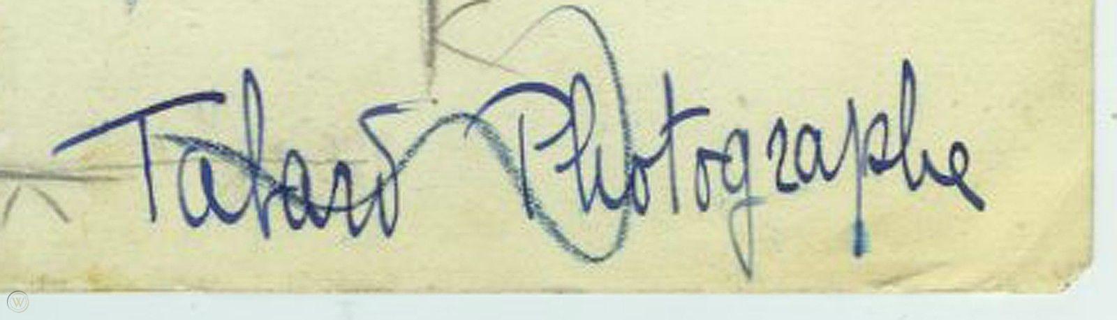 Signature Maurice Tabard
