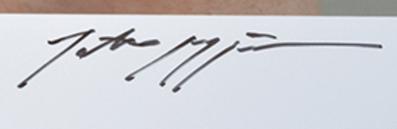 Signature Tatsuo Miyajima