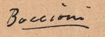 Signature Umberto Boccioni