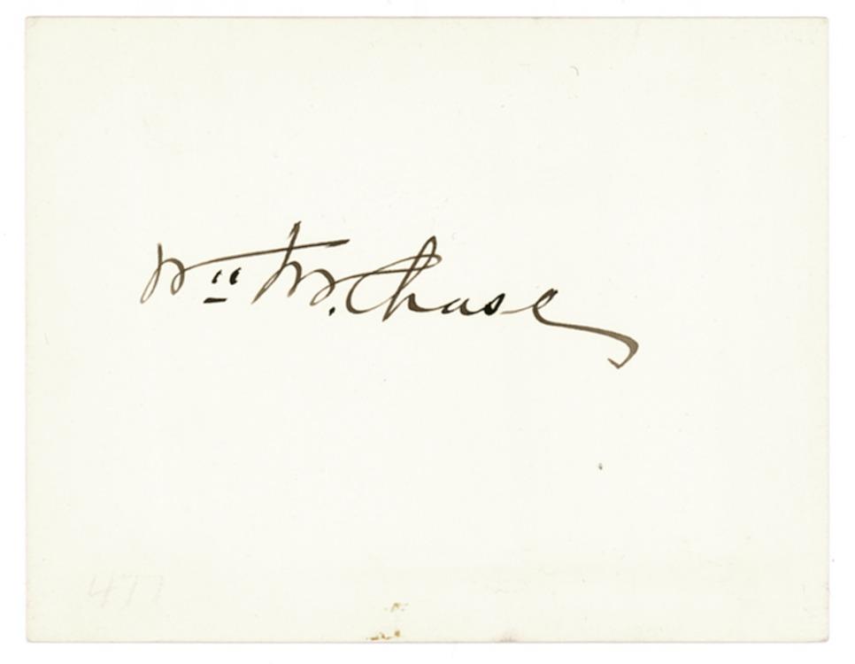 Signature William Merritt Chase