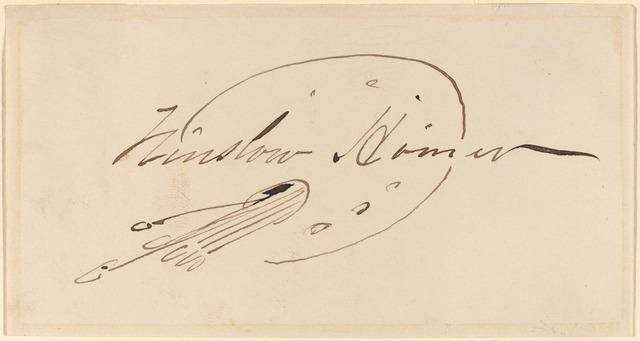 Signature Winslow Homer
