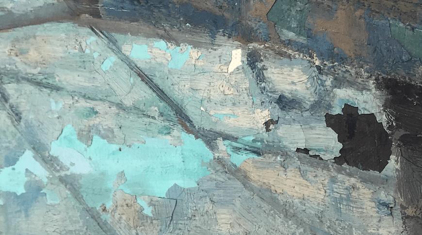 tableau écaillements peinture