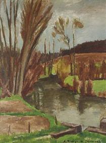 Peinture André Dunoyer de Segonzac