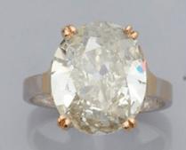 """Oeuvre """"Bague Cartier en or gris et jaune sertie d'un diamant"""""""
