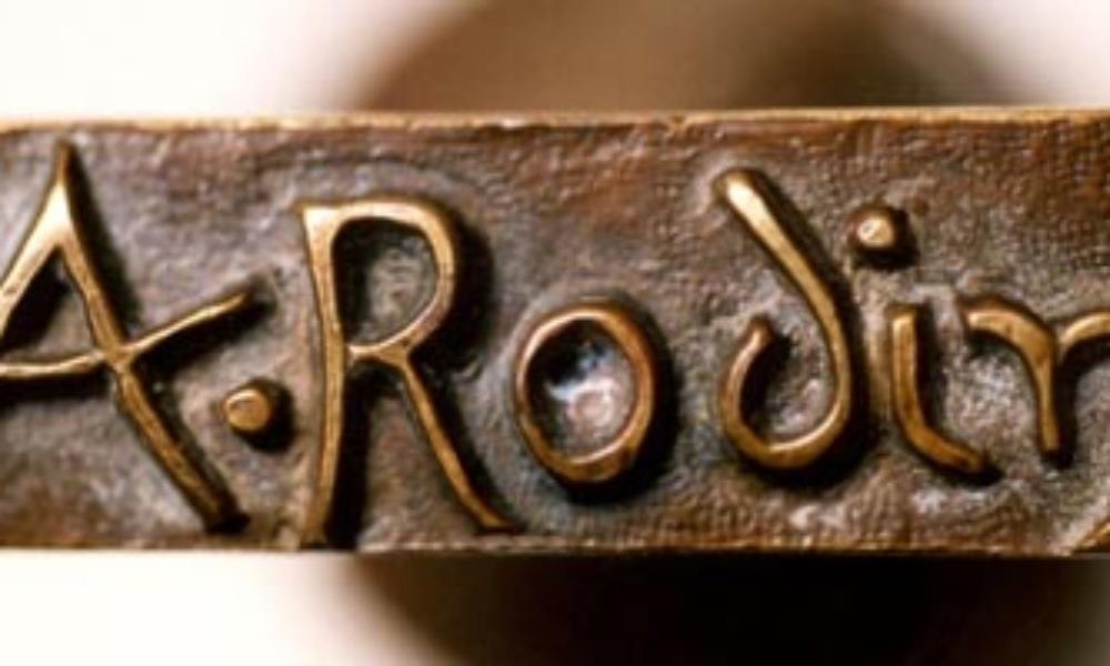 Signature sculpture bronze